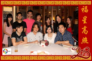 Our 2013 team as of Chinese new year.